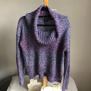 AEO Purple Chunky cowl neck sweater